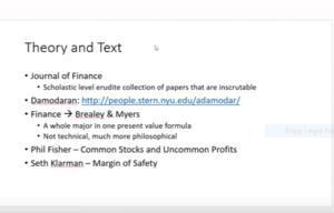 Shkrelis läslista för dig som vill lära dig finansiell ekomomi.